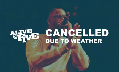 CANCELLED – Alive @ Five   Stitch Early and The Populatn
