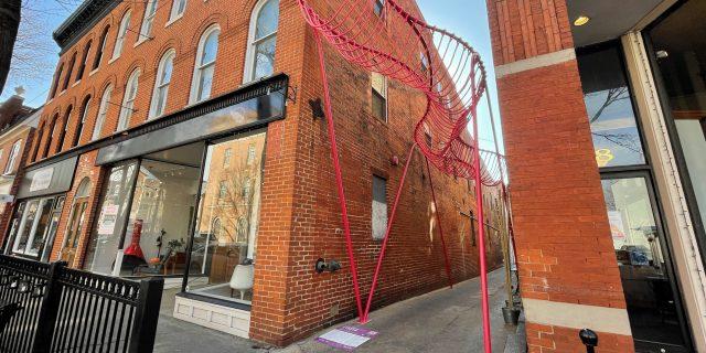 Happy Stripe in Downtown Frederick