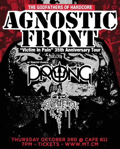 Agnostic Front | PRONG | All Out War