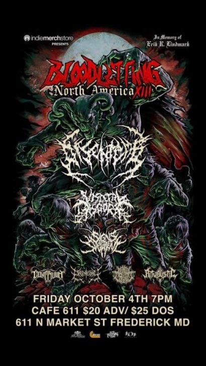Bloodletting N. America Tour w/ Disentomb, & more