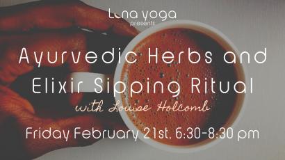 Ayurvedic Herbs and Elixir Sipping Ritual