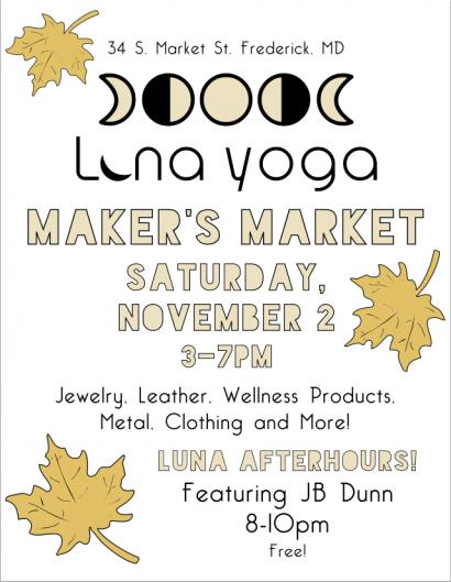 Luna Yoga Maker's Market feat. JB Dunn