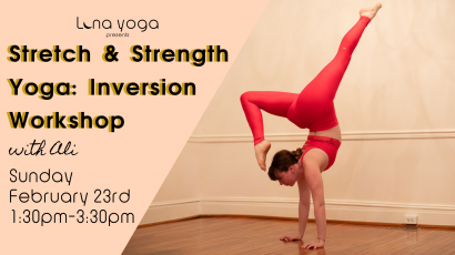 Stretch & Strength Yoga: Inversion Workshop