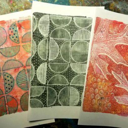 Geli Plate Printmaking Class