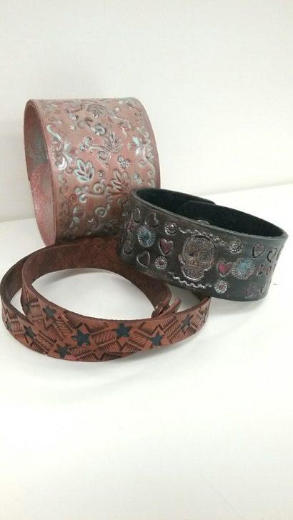 Make Me Mine Leather Stamped Bracelet Craft Party