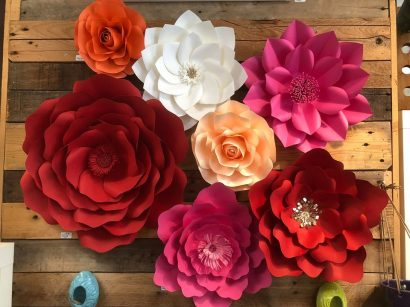 Poinsettia Flower Wall Hanging Craft Party