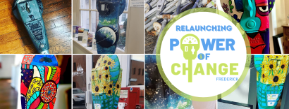 Live painting with Power of Change Frederick!