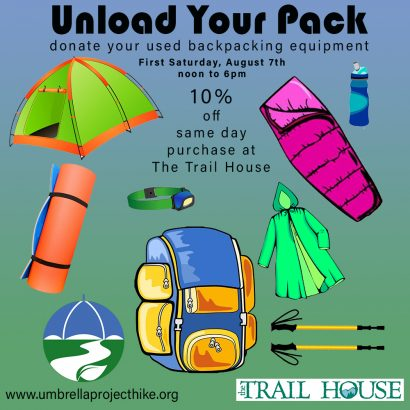 Unload your backpack @ The Trail House